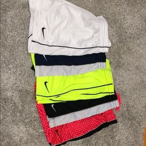 5 pair of Nike soccer shorts